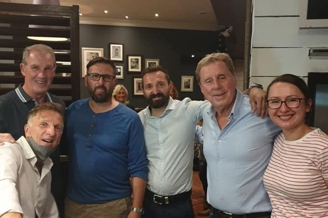 Football legend Harry Redknapp popped into Dantes in Colinton on Friday.