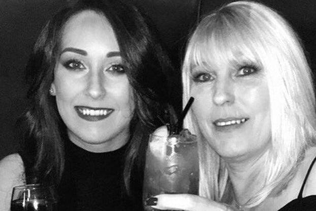 Kirsty Maxwell with mother Denise Curry enjoying a drink