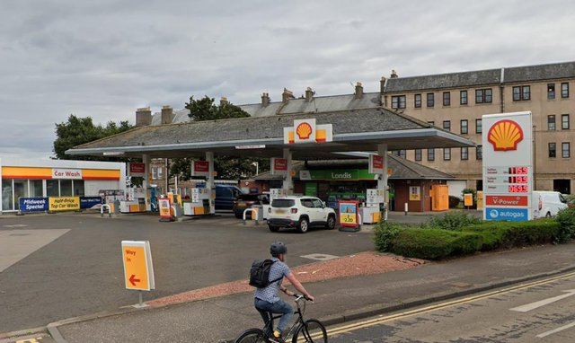 Local police arrested a man at the Shell garage, on Edinburgh Road, after receiving a report of a robbery at around 5:55am.