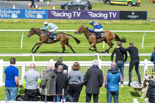 Musselburgh will remain limited to a crowd of 1,000 for its next three meetings. Picture: Lisa Ferguson