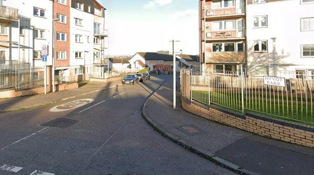 The incident took place in Hyvot Park, Edinburgh. Picture: GoogleMaps