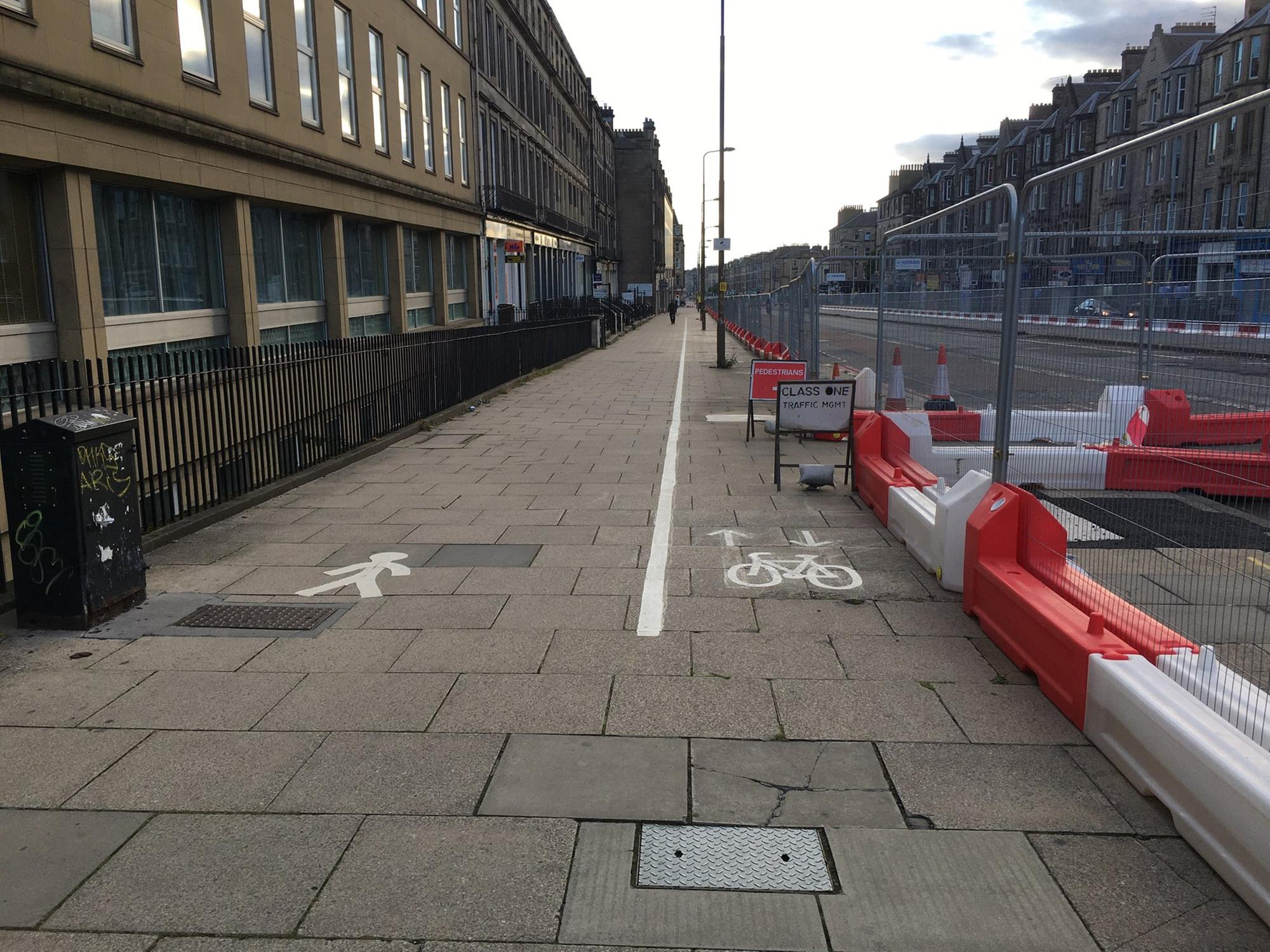 'That's ridiculous': Edinburgh reacts to lamposts in the middle of Leith Walk cycle lanes