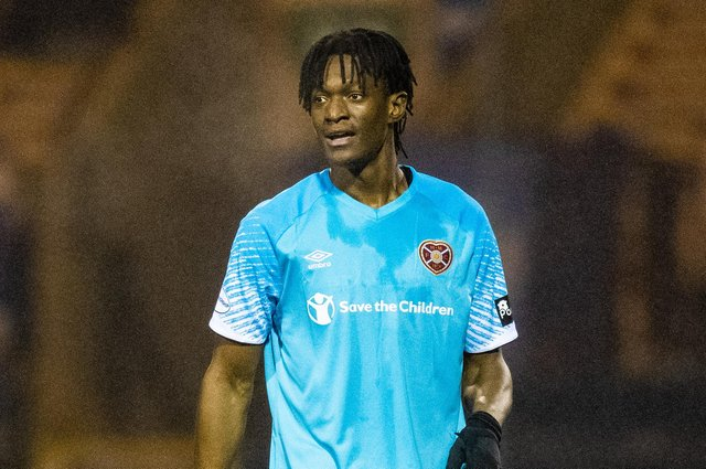 Armand Gnanduillet made his Hearts debut at Raith Rovers.