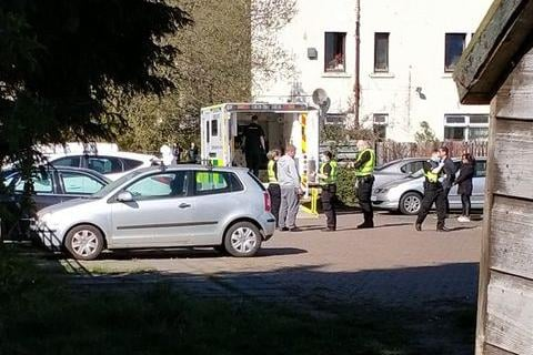 A heavy police presence was seen near Ferry Road on Monday afternoon (picture credit: Colin Chris Cameron)