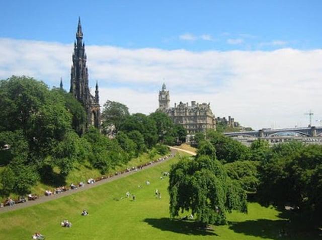 Princes Street Gardens. Pic: google