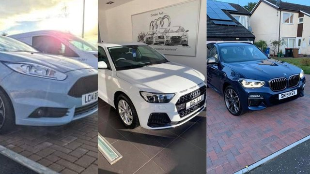 A silverFord Fiesta (LC14 BFO), white Audi (registration number:D16 TJJ), and a dark blue BMW (RFS 38) were taken from driveways on Gavins Lee, Tranentat around 4.55am on Sunday, May 9.