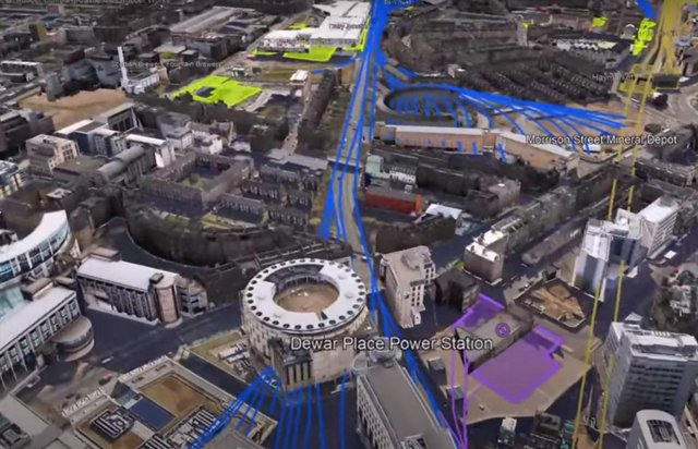 Andy Arthur's videos overlay the city's lost railway lines on to modern maps.