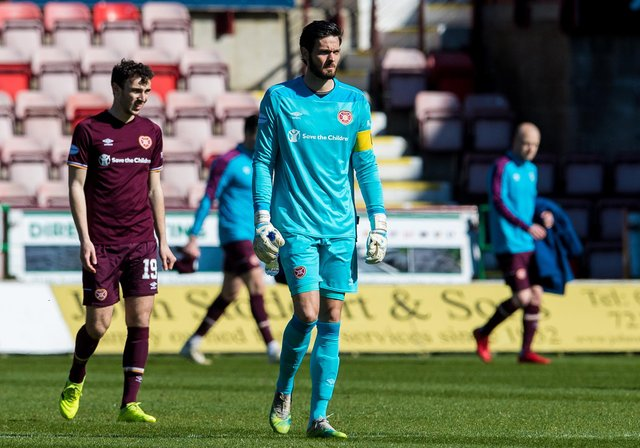 Craig Gordon was once again in excellent form for Hearts. Picture: SNS