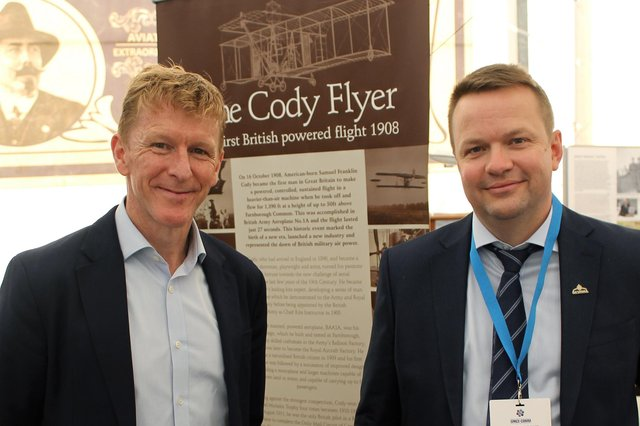 Volodymyr Levykin, chief executive of Skyrora, was joined by British astronaut Major Tim Peake at the launch of 'Finding Prospero'.
