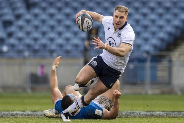 Jaco van der Walt scored two tries in Scotland's 52-10 victory. Picture: Ross Parker / SNS