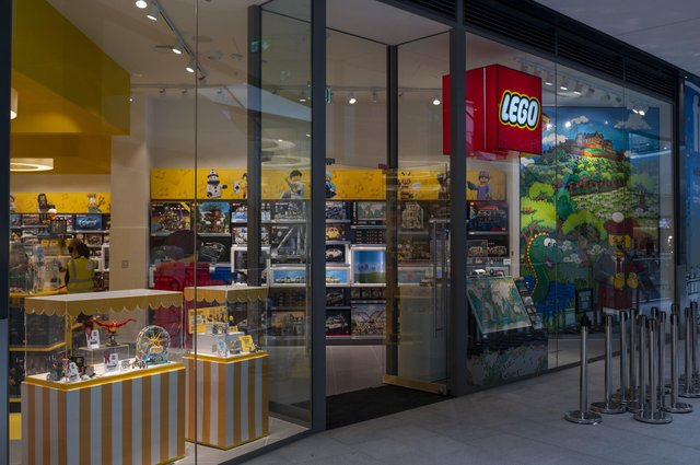 The new Lego Store, the first in Edinburgh prepares to open in the new St James Quarter on Wednesday