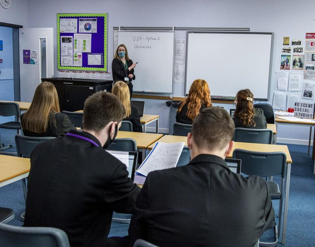 S5 and S6 pupils at Armadale Academy. Picture: Lisa Ferguson