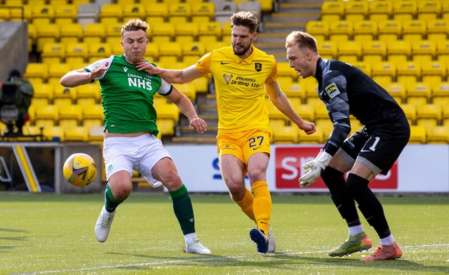 Hibs and Livingston drew 1-1 in Almondvale the last time the teams met. Picture: SNS