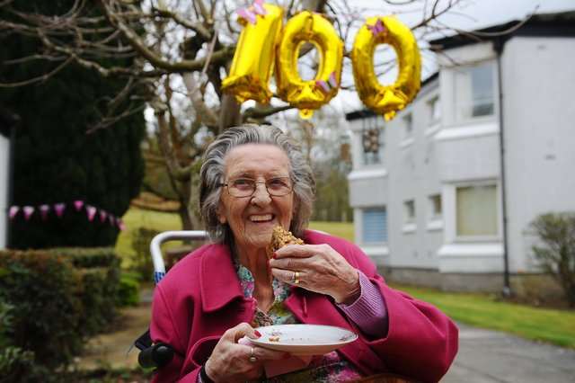 Eleanor Petrie celebrated her 100th birthday on Tuesday, April 20.  Pictures by Michael Gillen.