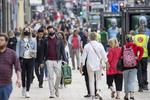 Shoppers pictured on Edinburgh's Princes Street during the summer. Picture: Jane Barlow/PA Wire