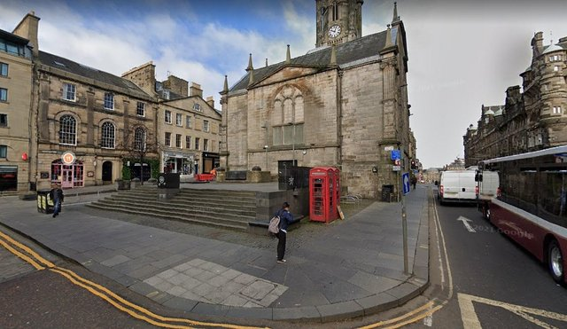 Officers have been dealing with issues in Hunter's Square in Edinburgh (Photo: Google Maps).