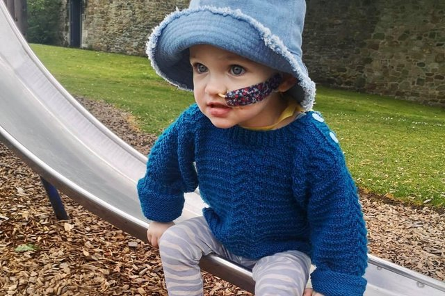 Two-year-old Flora received a shock diagnosis of stage four neuroblastoma in April this year