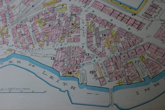 The streets patrolled by the Leith Police in 1892