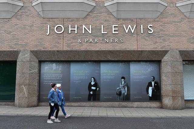 John Lewis has three department stores in Scotland, in Aberdeen, Edinburgh and Glasgow, pictured above. Picture: John Devlin