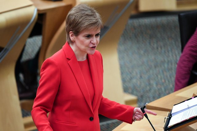 Nicola Sturgeon is due to give evidence to the Scottish Parliament committee investigating the government's handling of complaints against Alex Salmond tomorrow (Picture: Andy Buchanan/pool/Getty Images)