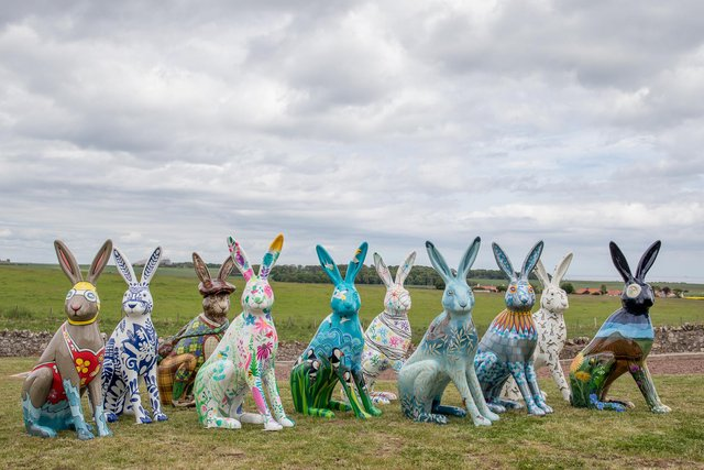 The hare trail marks the tenth anniversary of Leuchie House as an independent charity