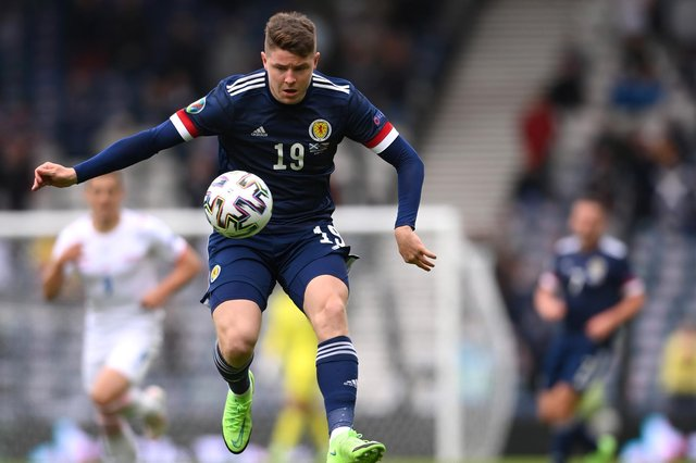 Kevin Nisbet in action for Scotland during the Euro 2020 match against Czech Republic at Hampden. (Photo by Stu Forster/Getty Images)