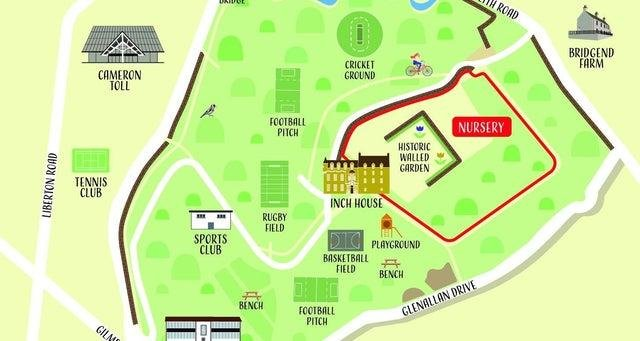 A map of Inch Park created by Elena Gardelli for Inch Community Association