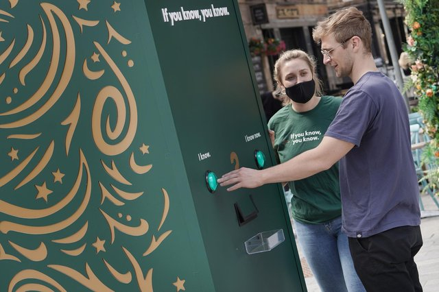 Innis & Gunn's intriguing Lager Booth is back in Edinburgh's city centre for one last time.