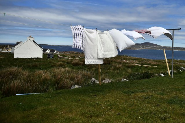 Not every day is quite as good as this one for hanging out the washing (Picture: Charles McQuillan/Getty Images)