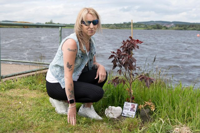 Sheena Ulhaq, whose son Keivan, 20,  died after getting into difficulties in the water at Lochore Meadows last June.