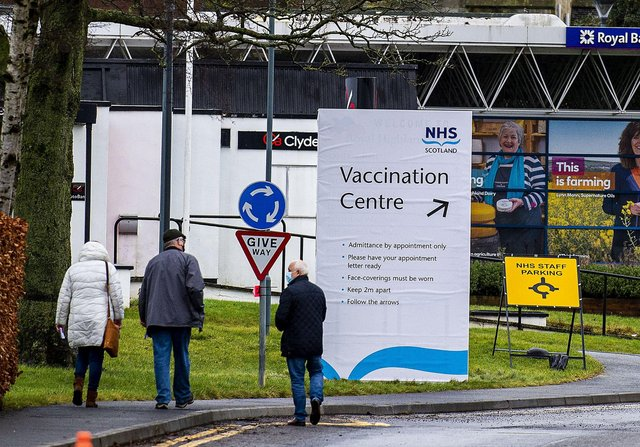 A quarter of vaccination scheduled appointments were missed at the Lowland Hall vaccination centre over the weekend. (Credit: Lisa Ferguson)